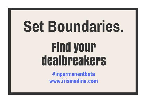 Set Boundaries.